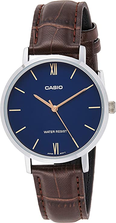 Casio Enticer Ladies Analog Blue Dial Women's Watch LTP VT01L 2BUDF A1629  Women's Watches