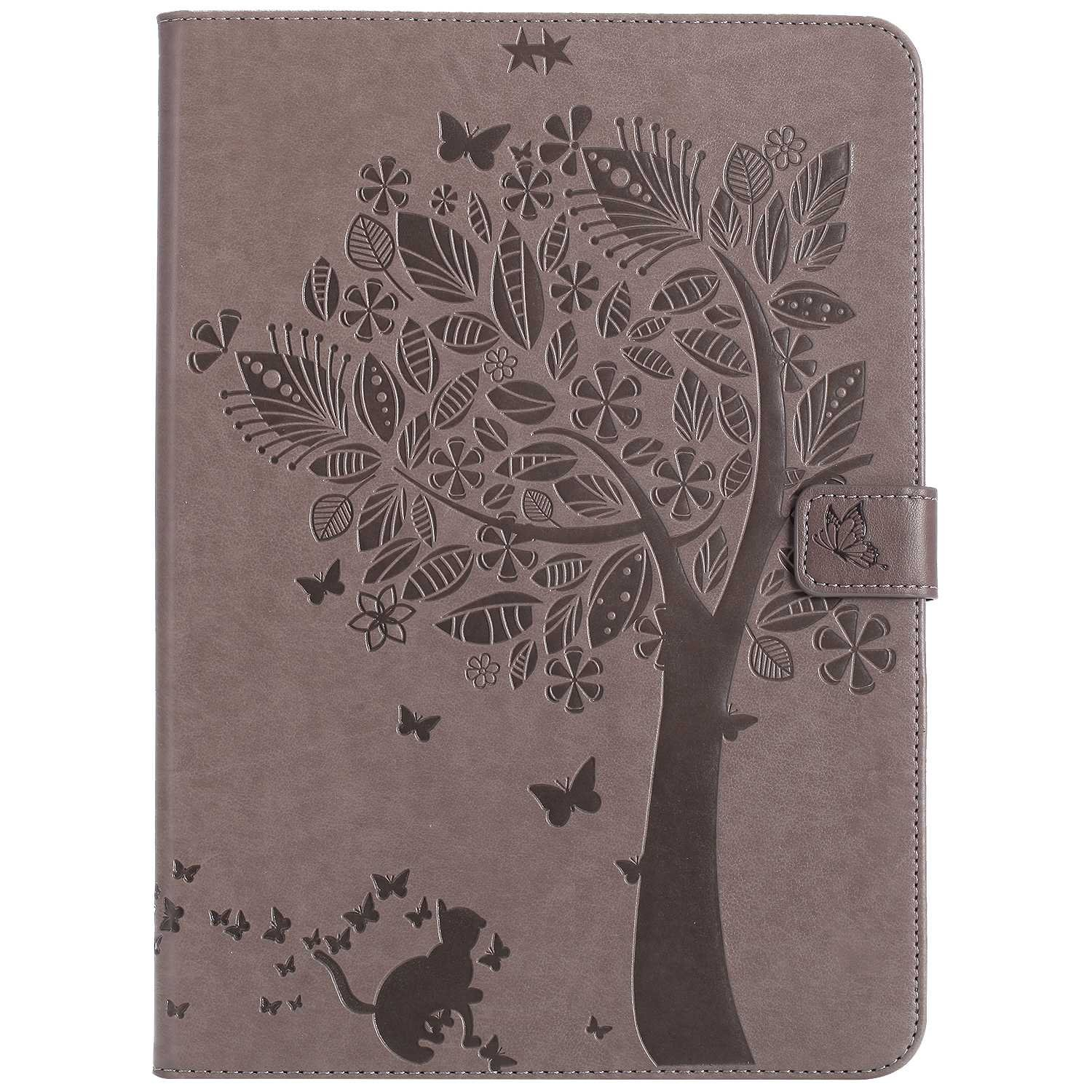 Bear Village iPad 2017 / iPad 2018 (9.7 Inch) Case, Leather Magnetic Case, Fullbody Protective Cover with Stand Function for Apple iPad 2017 / iPad 2018 (9.7 Inch), Gray by Bear Village