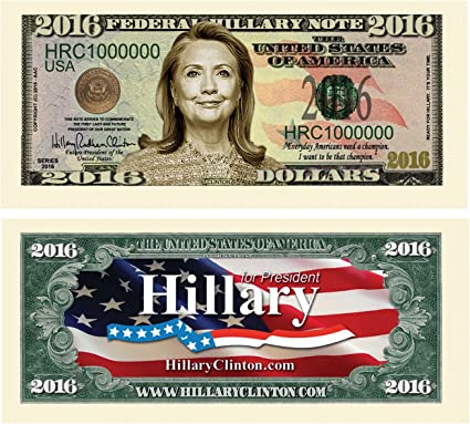 2-Hillary Clinton 2008 Dollar Bills Political Collectible Presidential C1