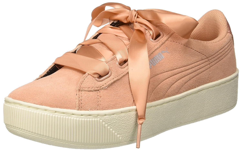 Puma Vikky Platform Ribbon S, Zapatillas para Mujer 36 EU|Rosa (Dusty Coral-dusty Coral 07)