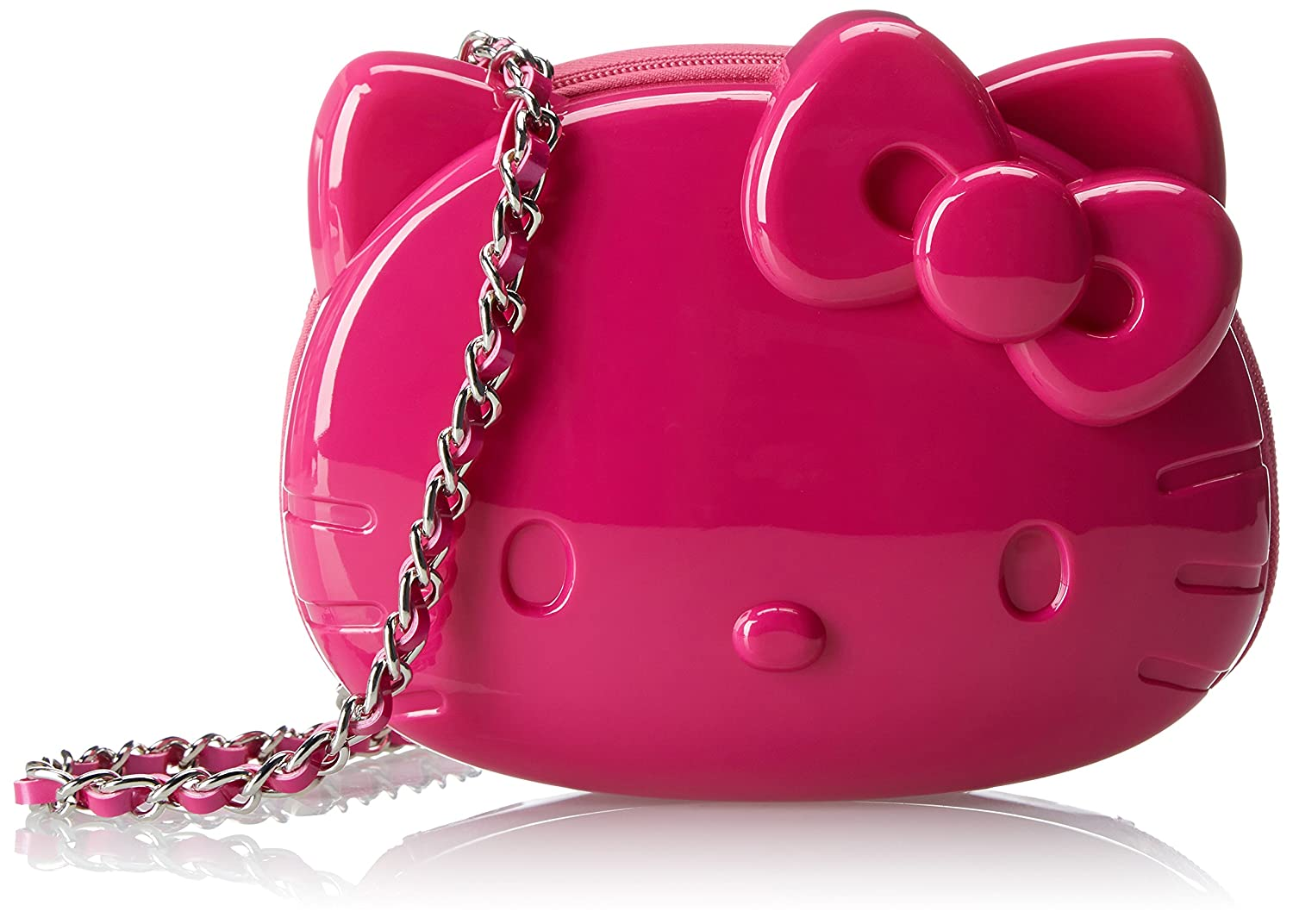 ef5c8ead2e Loungefly Hello Kitty 3D Moulded Silicon Chain Cross Body Bag (Pink)  Amazon.co.uk   Toys   Games