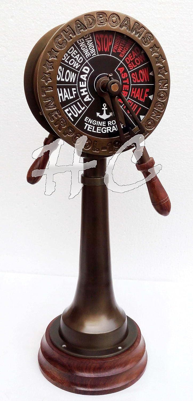 "Ship Telegraph Chadboams Liverpool London 20/"" Antique Vintage Brass Decorative"