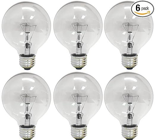 ge lighting 12980 40 watt 410 lumen g25 globe light bulbs crystal