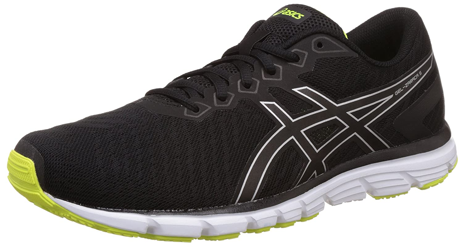 ASICS Men's Gel-Zaraca 5 Black, Safety Yellow and Black Running Shoes - 8 UK/India  (42.5 EU)(9 US): Buy Online at Low Prices in India - Amazon.in