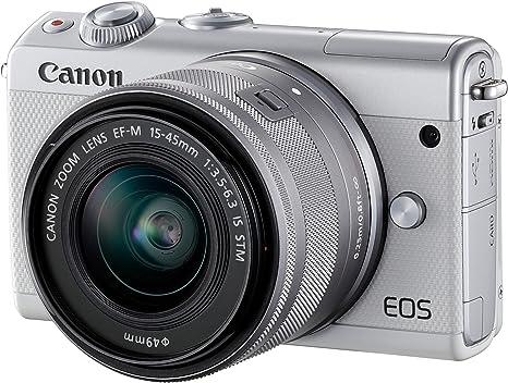 Canon EOS M100, Cámara digital con EF-M 15-45 mm, Blanco: Canon ...