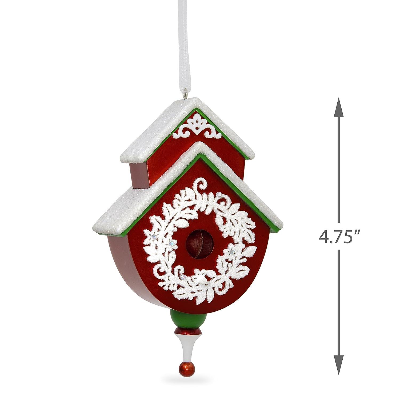 Amazon.com: Hallmark Keepsake 2017 Red and Green Beautiful Birdhouse ...