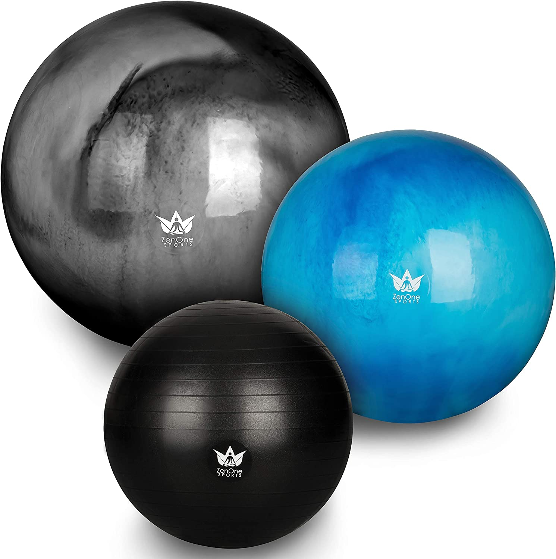 PROIRON Gymnastikball Pezziball Sitzball 55cm 65cm 75cm mit Pumpe Anti Burst Robuster f/ür Erwachsene B/üro Schwangerschaft Pezzib/älle Gymnastikb/älle