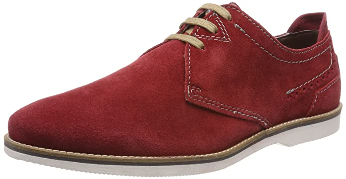 311454046900, Derbys Homme, Rouge (Dark Red), 41 EUBugatti