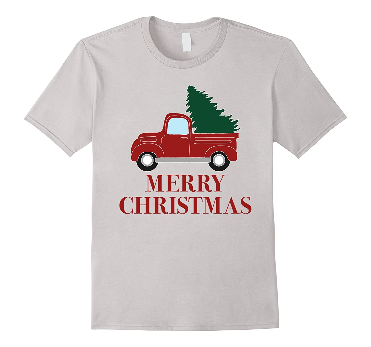 vintage red truck with christmas tree t shirt anz