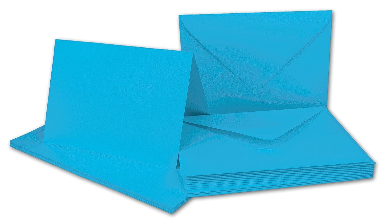 Faltkarten Set mit Brief-Umschlägen DIN A6   C6 in Rosanrot   100 Sets   14,8 x 10,5 cm   Premium Qualität   Serie FarbenFroh® B07B2XWBG9 | Elegant und feierlich