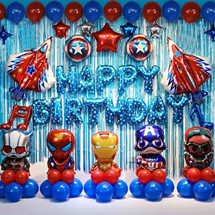 Amazon.com: Globos de superhéroe para fiestas de cumpleaños ...