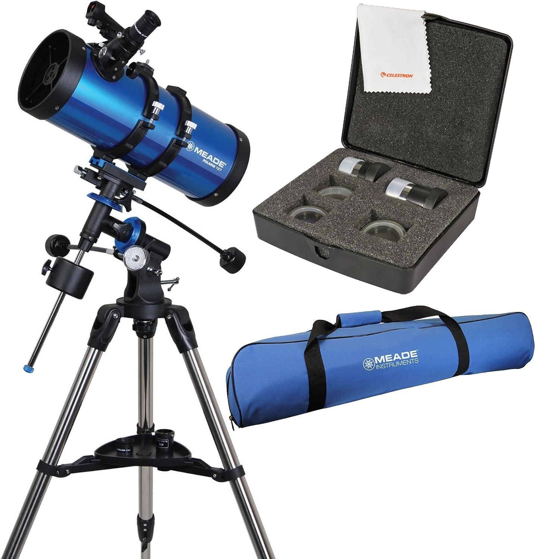 Meade Polaris 127mm f/7.9 Reflector Telescope w/ Travel Bag & Accessory Kit