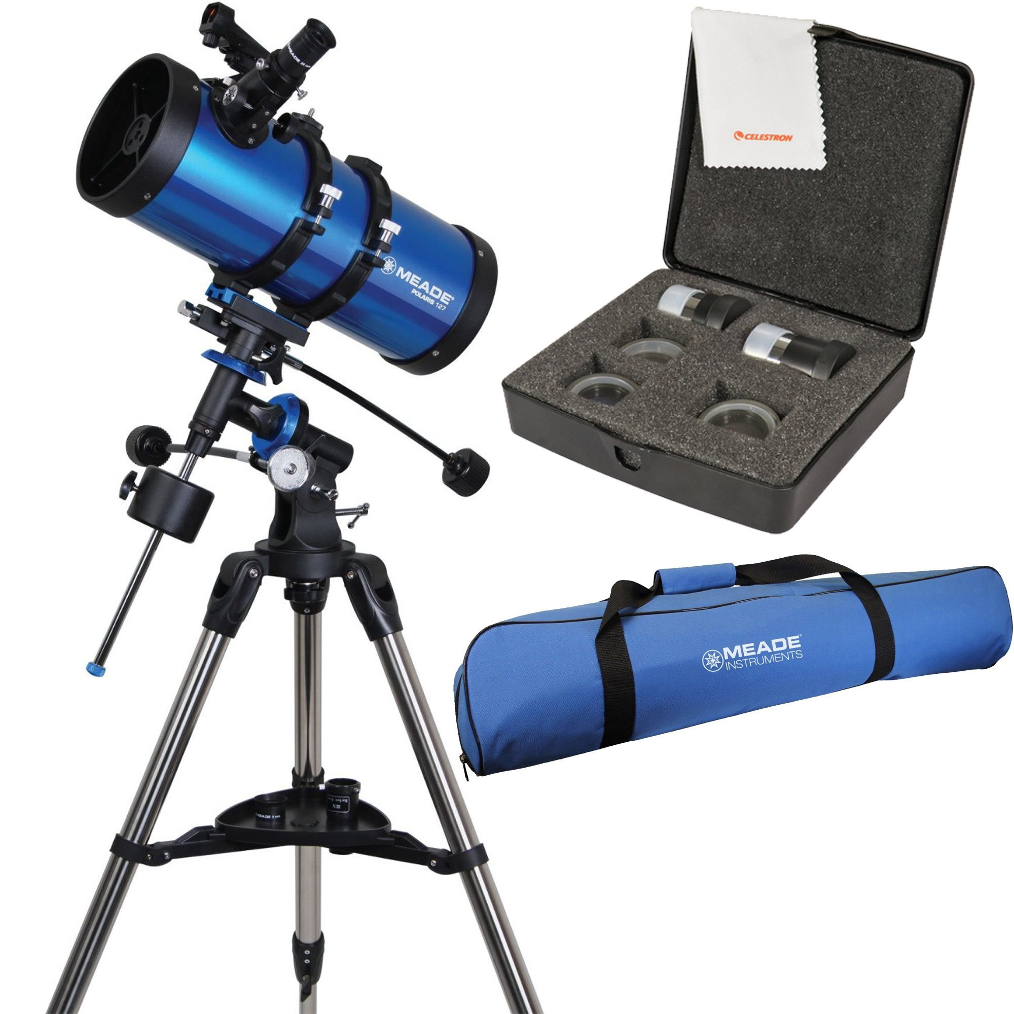 Meade Polaris 127mm f/7.9 Reflector Telescope w/ Travel Bag & Accessory Kit by Meade