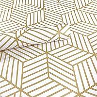 Meboom Champagne Goud Gestripte Peel Stick Behang Zeshoek Goud Strepen Zelfklevend Papier Vinyl Film Plank Lade Liner…