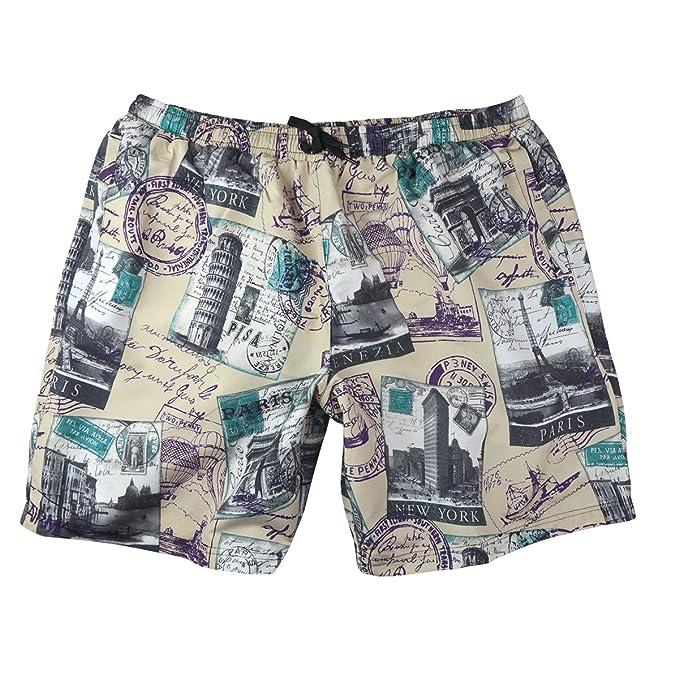 Abraxas Pantalones Cortos de Natación XXL Jim Beige-Gris París, 2xl-8xl: