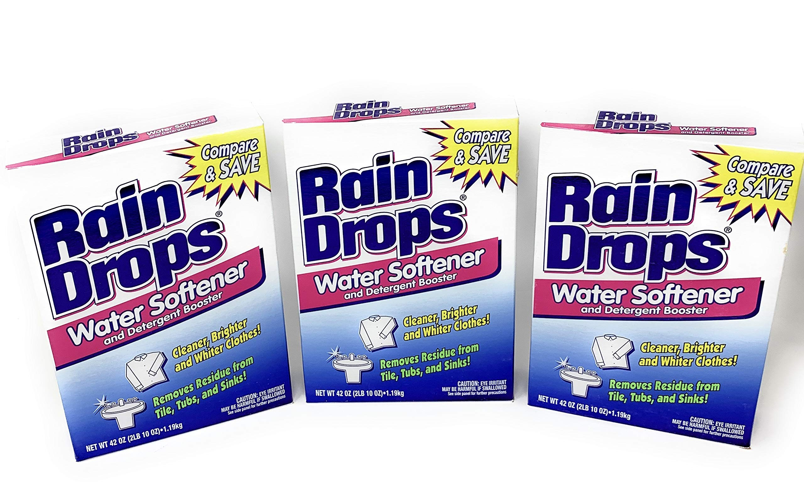 Rain Drops Water Softener, 42 Ounce (Pack of 3)