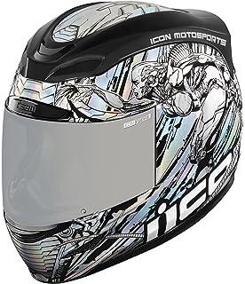Icon Airmada Mechanica - Casco de moto, color plateado
