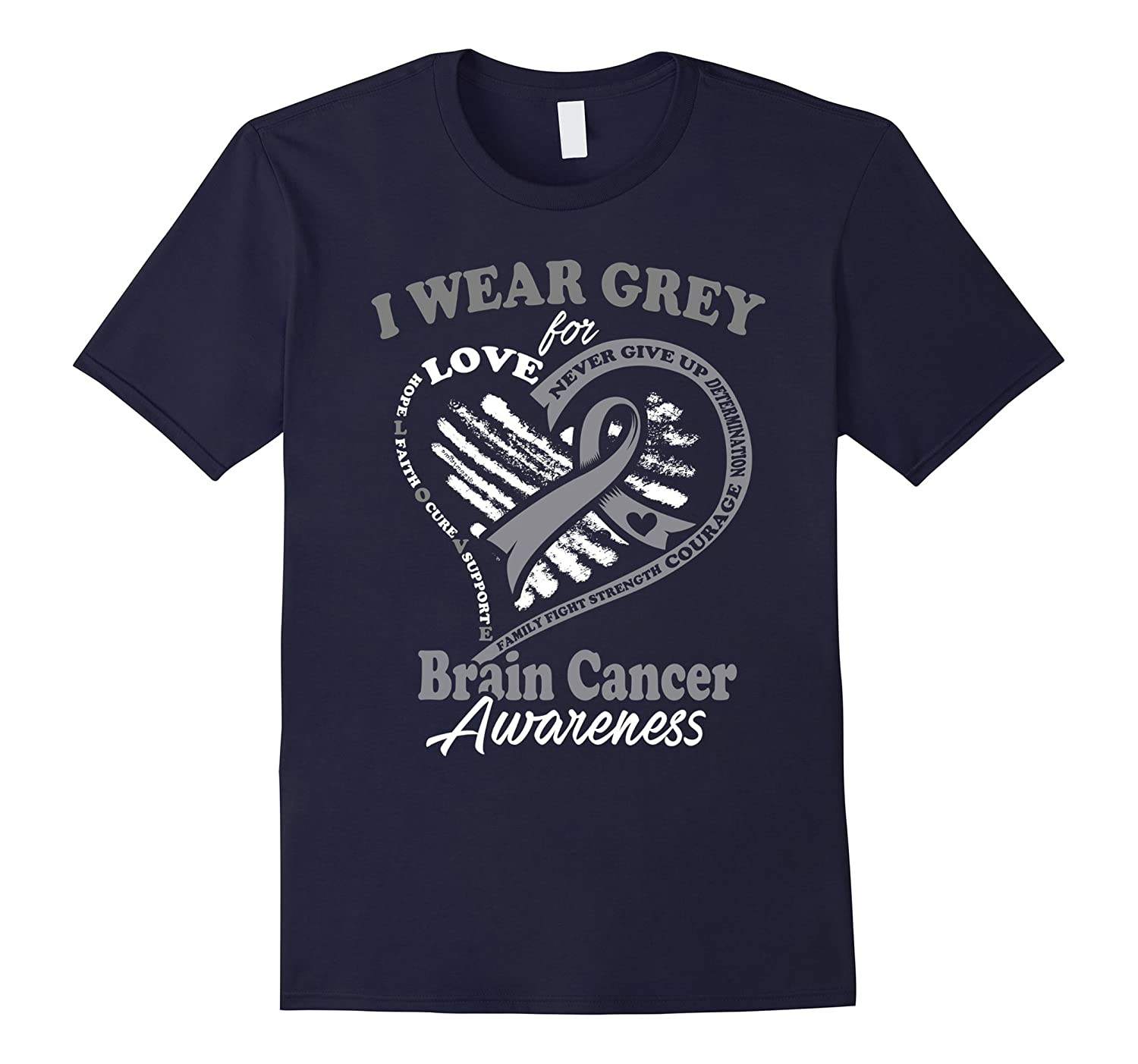 Brain Cancer Shirt - I Wear Grey For My Hero-Vaci