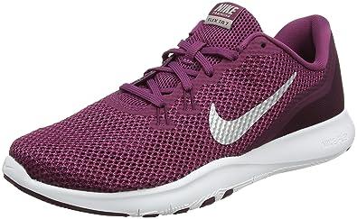 8c899a0b125 Nike Women s Flex TR 7 Training Shoe Tea Berry Metallic Silver Bordeaux Size  6.5
