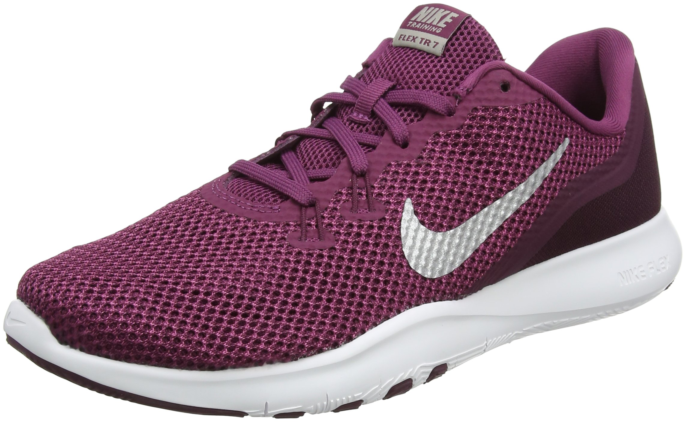3b2c7d8ea27a Galleon - Nike Women s Flex TR 7 Training Shoe Tea Berry Metallic  Silver Bordeaux Size 10 M US