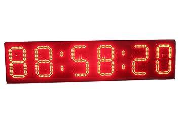 """azoou 10 """"reloj de pared LED de alta Character LED Digital temporizador cuenta atrás"""