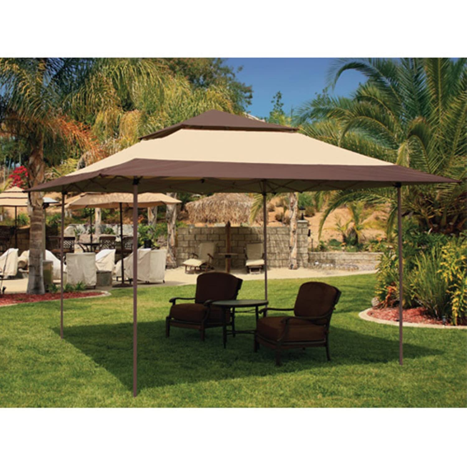 amazon com e z up 13 x 13 pagoda gazebo canopy outdoor