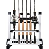 KastKing Fishing Rod Rack – Perfect Fishing Rod Holder - Holds Up to 24 Rods - 24 Rod Rack for All Types of Fishing Rods and Combos/12 Rod Rack for Freshwater Rods - ICAST Award Winner