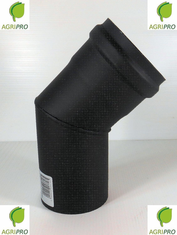 CURVA 45° tubo scarico fumi Diametro 80 per stufa a pellet canna fumaria D.M.