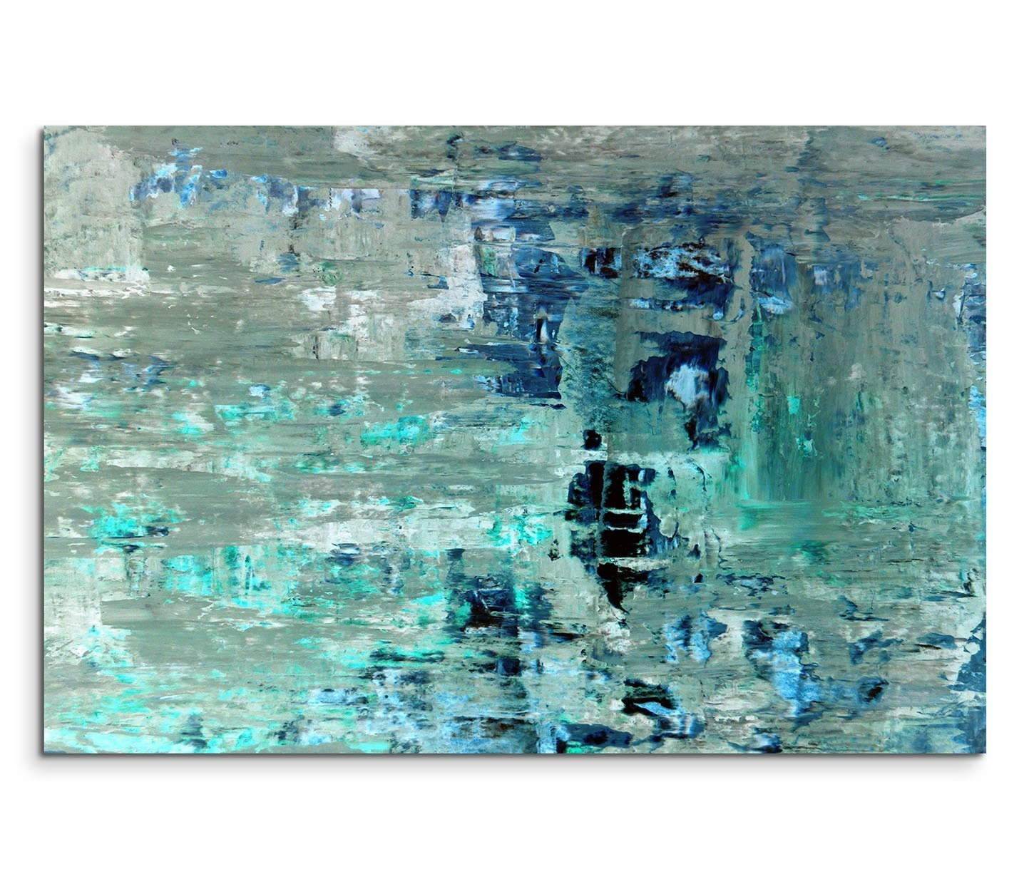 120 x 80 cm Canvas Art Painting Teal Abstract Canvas Wall Art Panoramic Paul Sinus Art GmbH Drop Ship