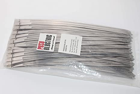 f62e2a86b93d Image Unavailable. Image not available for. Color: PUSU 100pcs Metal Zip  Ties, 11.8 Inches Stainless Steel ...
