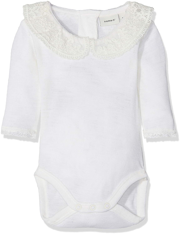 Name It Baby Girls' Nbfwang Wool Need.ls Body W/Col Noos Footies 13152834
