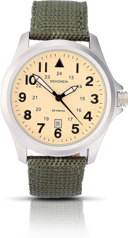 Reloj de pulsera Sekonda para hombre con correa de tela