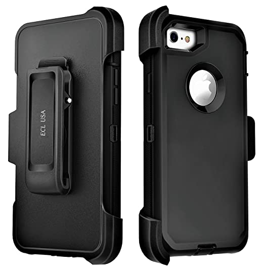 big sale db0bd d7972 ECL The Eagle, Cover Case for iPhone 8 and iPhone 7 Phone Case Tough Cover  with Belt Clip Kickstand Holster and Built-in Screen Protector for iPhone7  ...