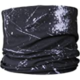 Multifonction Foulard Écharpe tube de cou éclaboussure noir