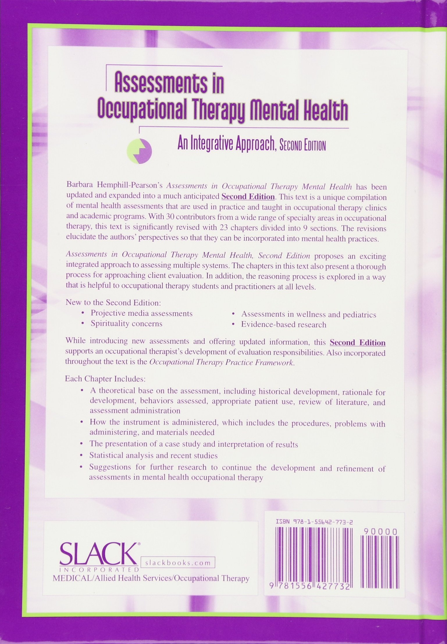 Assessments In Occupational Therapy Mental Health An Integrative Approach Amazon Co Uk Barbara J Hemphill Pearson 9781556427732 Books