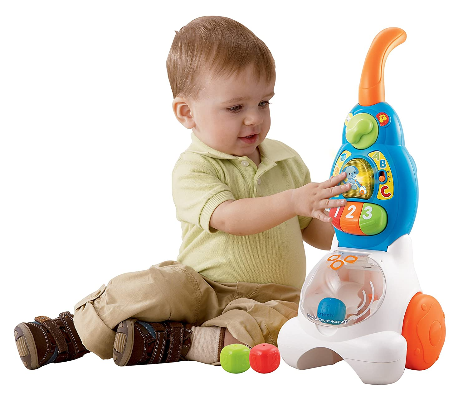 Amazon VTech Pop and Count Vacuum Push Toy Toys & Games
