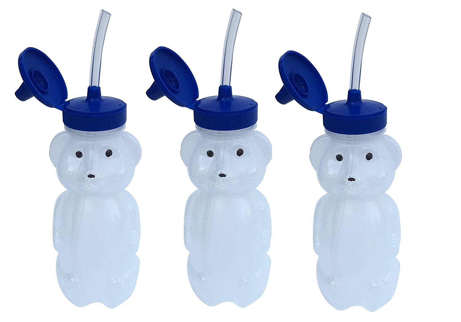 3 Pack Speech Therapy and Straw Training Honey Bear Cups with Straw