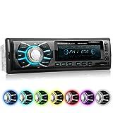 XOMAX XM-RSU262BT Autoradio no hay unidad de CD DIN 1 (single DIN) Tamaño de montaje estándar + MOSFET 4x60 vatios + AUX-IN + 7 ajustables colores de iluminación: azul, rojo, verde... + WMA + MP3 + USB y SD (128 GB por Medio) + Bluetooth manos libres y música + ISO + antena de radio
