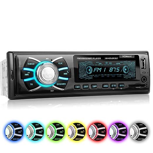 8 opinioni per XOMAX XM-RSU262BT Autoradio nessun lettore CD + Bluetooth Vivavoce + 7 colori