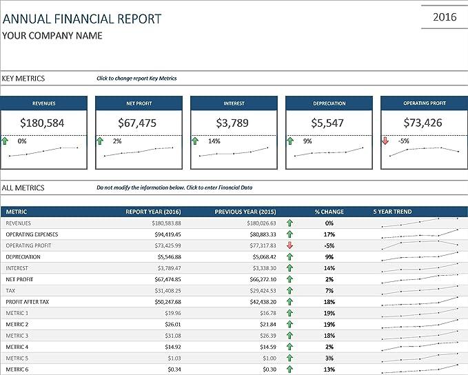 amazon com annual financial report excel