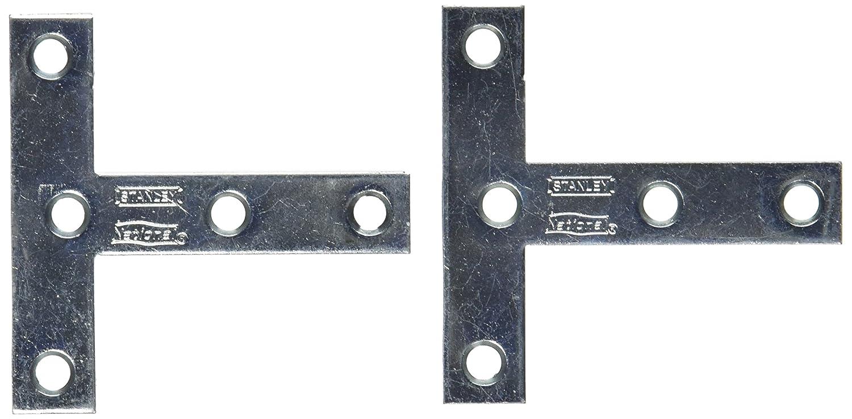 NATIONAL SPECTRUM BRANDS HHI N113 704 3 x 3 Inch Zinc T Plate 2 Pack