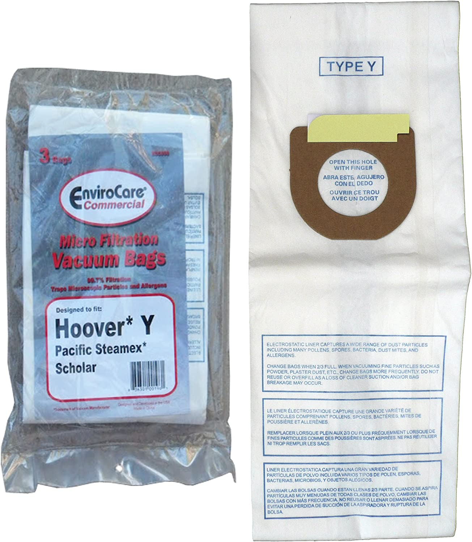 Genuine Style Y Vacuum Cleaner Bags Micro Allergen 4010100Y Fits Hoover Vacs