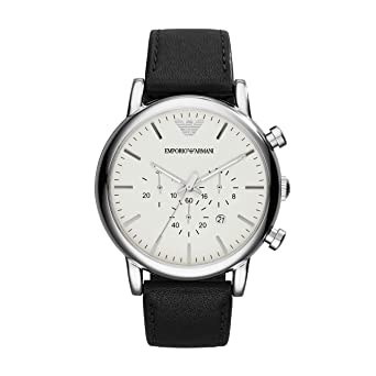 f6ebcddf Emporio Armani Men's AR1807 Dress Black Leather Watch