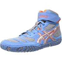 ASICS Men's Aggressor 2 Wrestling Shoe,Navy/White/Cement,10.5 M US