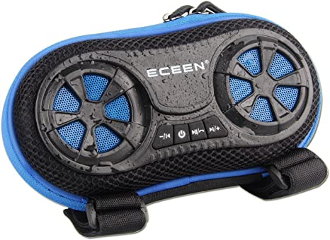 ECEEN Wireless Bluetooth Speaker Bicycle Speaker Case with Hands Free Speakerphone Calls and Rechargeable 4,000mAh Power Bank Charge For Apple