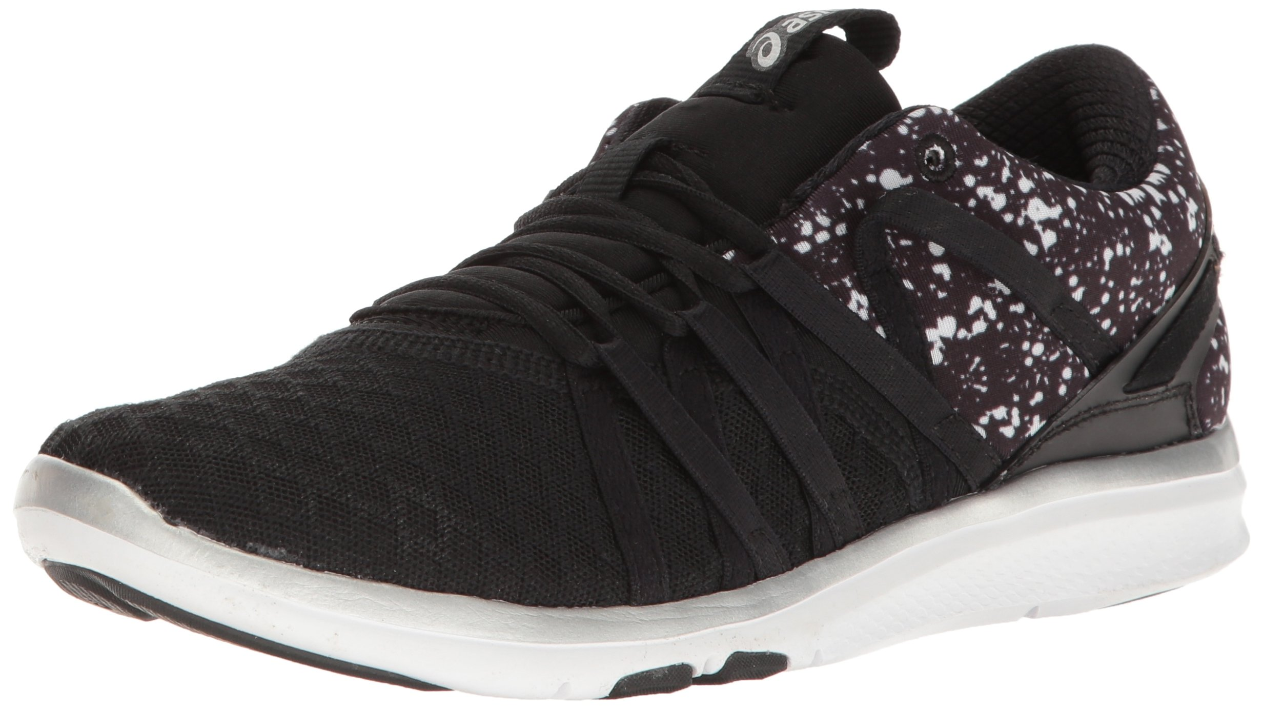 ASICS Women's Gel-Fit Yui Cross-Trainer Shoe, Black/Silver/White, 8.5 M US