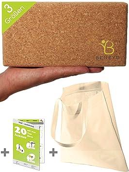 beneyu® Bloque Yoga Corcho - Made in EU | Bloque de Yoga ...