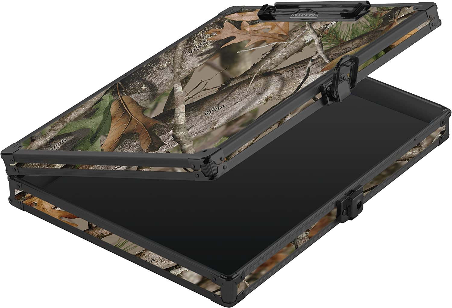 "Vaultz Locking Clipboard with Storage for Letter Size Sheets, 12.5"" x 10.5"" x 2.75"", Key Lock, Next Camo (VZ03462)"