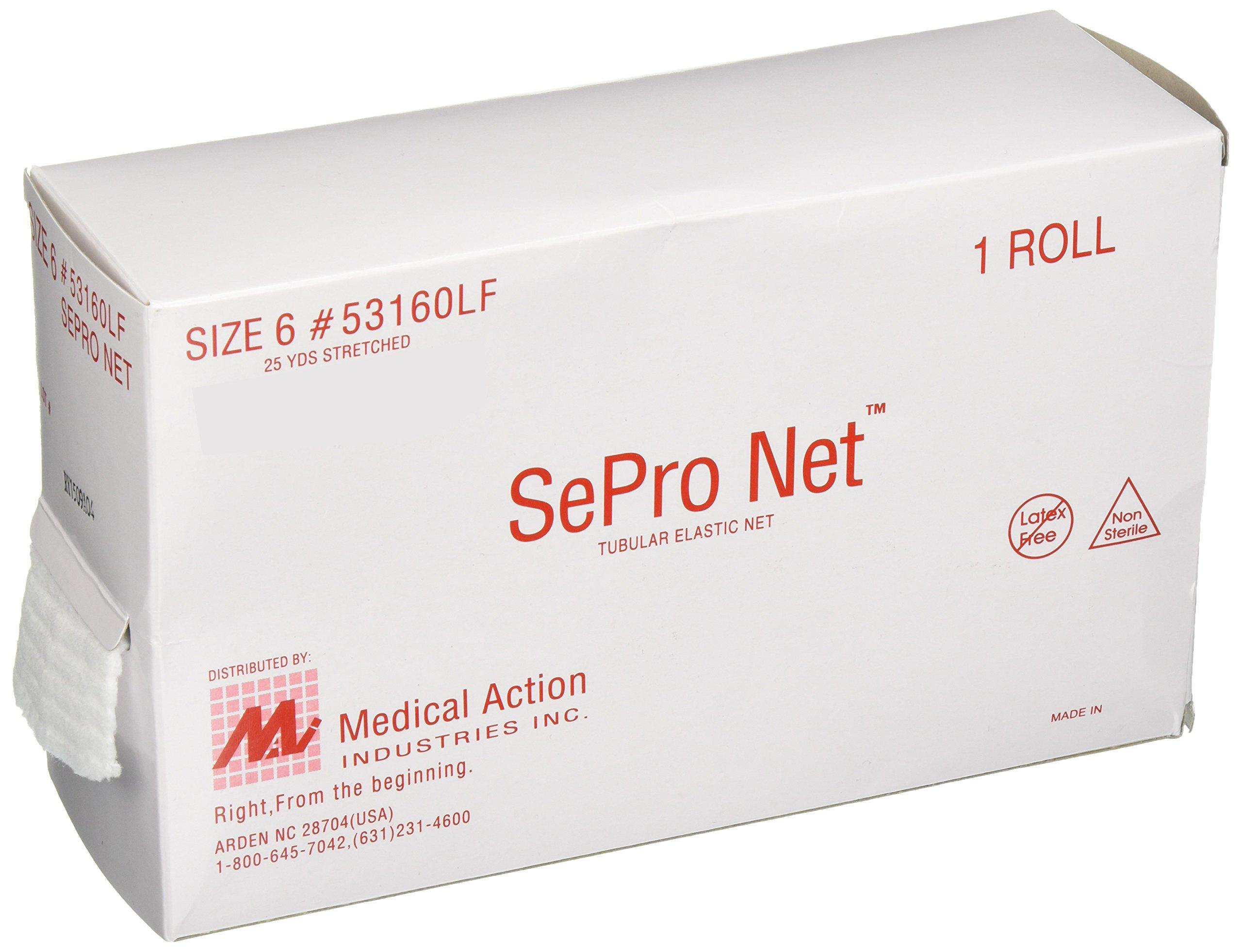 Medical Action Industries 53160LF SePro Elastic Net, Latex Free, Size 6