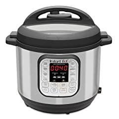 Instant Pot Duo 7-in-1 Electric Pressure Cooker Slow Cooker Rice Cooker Steamer Saute Yogurt Maker and Warmer 6 Quart 14 One-Touch Programs